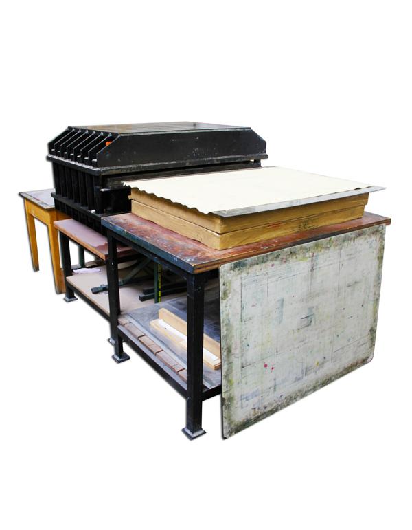 Large Hydraulic Printing Press (A0)